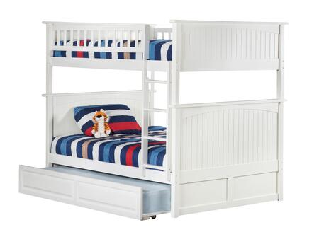 Atlantic Furniture AB5953 Nantucket Bunk Bed Full Over Full With Raised Panel Trundle Bed