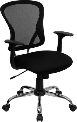 "Flash Furniture H-8369F-XX-GG 19.5"" Mid-Back Mesh Office Chair with Chrome Finished Base, Built-In Lumbar Support, Pneumatic Seat Height Adjustment, Nylon Arms, and Dual Wheel Casters"
