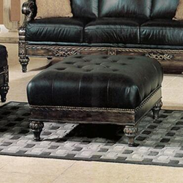 Yuan Tai MA8000T Manhattan Series Traditional Leather Ottoman