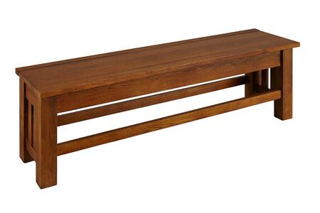 AAmerica LAUOA297K Accent Armless Solid Oak Not Upholstered Bench