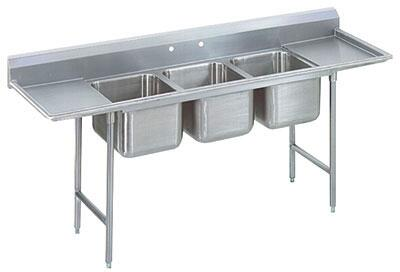 Three Compartment, Left and Right Side Drainboard