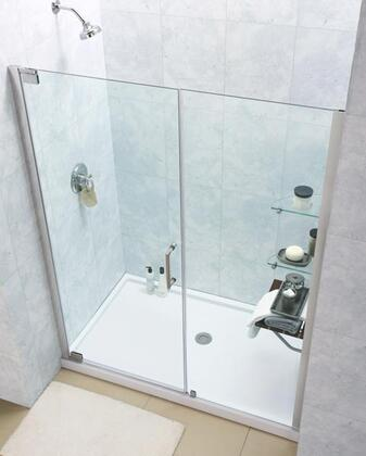 "DreamLine DL-62 Elegance Frameless Pivot Shower Door and SlimLine 30"" by 60"" Single Threshold Shower Base in"