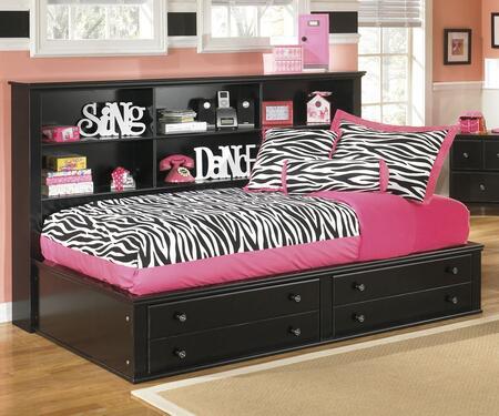 Milo Italia BR220027376 Hodges Series  Twin Size Bookcase Bed