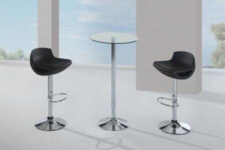 Global Furniture USA M828BTM207BSBL3PCSET Bar Tables