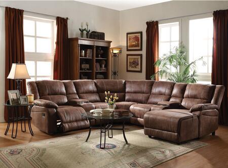 Acme Furniture 51445 Zanthe II Series Stationary Suede Sofa