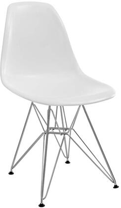 Modway EEI179WHI Paris Series Modern Not Upholstered Metal Frame Dining Room Chair