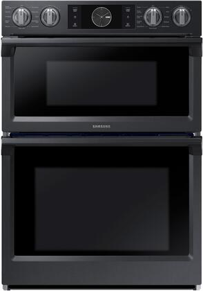 Samsung Nq70m7770dg 30 Inch Black Stainless Steel Electric Double Wall Convection Steam Oven Microwave Combo