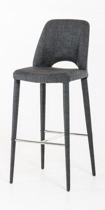 VIG Furniture VGEUMC8980CHBGRY Modrest Williamette Series Residential Fabric Upholstered Bar Stool
