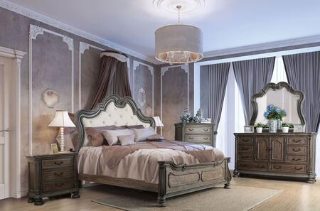 Furniture of America CM7662EKBEDSET Ariadne King Bedroom Set