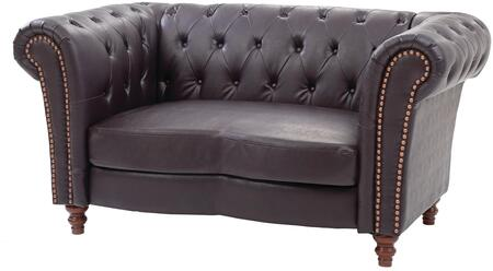 Glory Furniture G751L Faux Leather Stationary with Wood Frame Loveseat