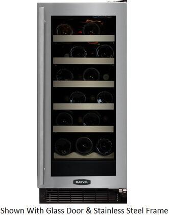 """Marvel 30WCMBBGLR 14.875"""" Built In Wine Cooler, in Black"""