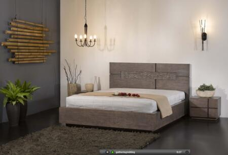 Chintaly TOKYO-BEDS Available in King and Queen size with Milo Finish