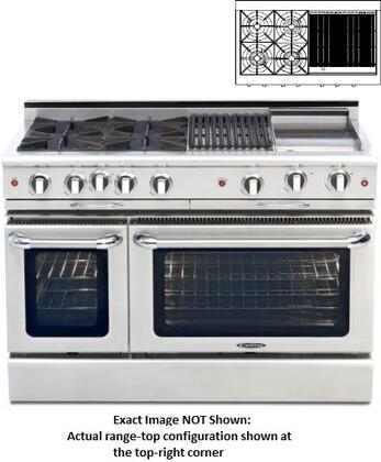 "Capital CGMR484GGN 48"" Culinarian Series Natural Gas Freestanding"