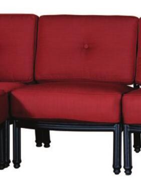 Sunny Designs 4703ABLM Transitional Patio Sofa