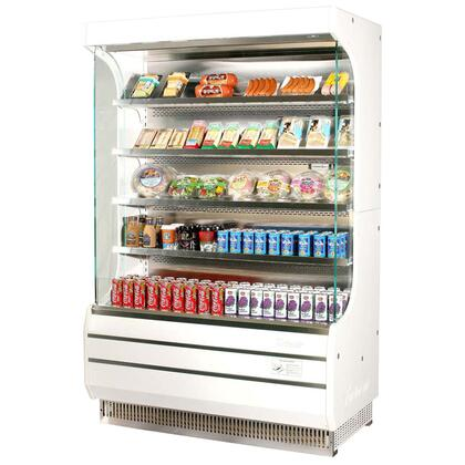 Turbo Air TOOOM Full Size Display Merchandiser with Efficient Refrigeration System, Stainless Steel Front Panel, Anti-Rust Coating, Glass Sides, Back-Guard and Fluorescent Lighting: