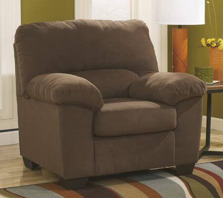 Benchcraft 1760X20 Zadee Chair with Plush Padded Arms, Divided Back and Supportive Seating Cushion in