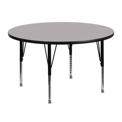 """Flash Furniture XU-A48-RND-T-P-GG 48"""" Round Activity Table with Thermal Fused Laminate Top and Height Adjustable Pre-School Legs"""