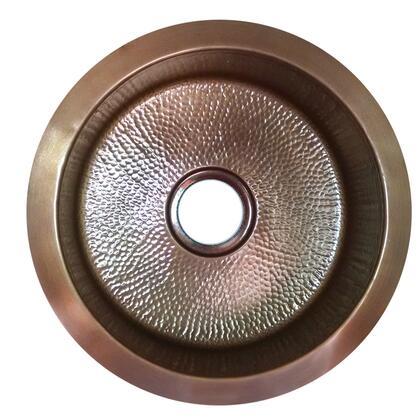 Nantucket RS18 18 Inch Hand Hammered Copper Round Undermount Bar Sink