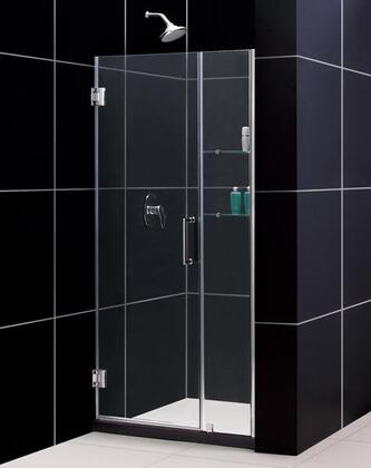 DreamLine SHDR-20427210S Unidoor Frameless Hinged Shower Door With Reversible For Right Or Left Door Opening, Self-Closing Solid Brass Wall Mounted Hinges (5 Degree Offset) & In
