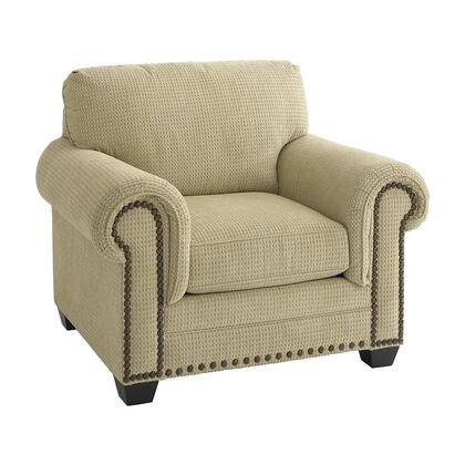 """Bassett Furniture Riverton Collection 3995-12FC/FC122-x 47"""" Chair with Fabric Upholstery, Nail Head Accents, Rolled Padded Arms and Traditional Style in"""