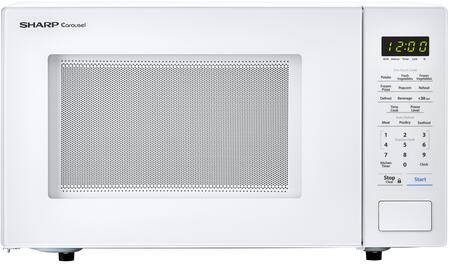 """Sharp SMC1131C Countertop Microwave with 1.1 cu. ft. Capacity, 1000 Watts, 11.25"""" turntable, Bezel-less Design, in"""