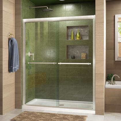 Duet Shower Door RS43 BN Center Drain
