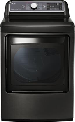 "LG DLEX7600KE 27"" Smart 7.3 cu. ft. Electric Dryer, in Black Stainless Steel"