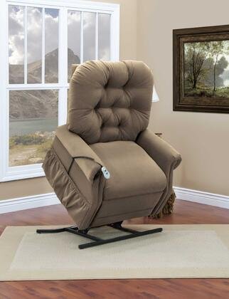 MedLift 2555AAC Contemporary Fabric Wood Frame  Recliners