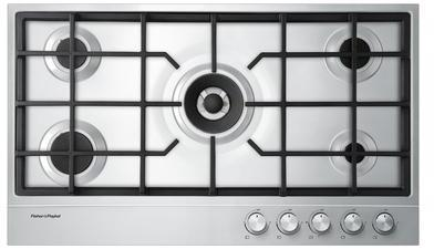 "Fisher Paykel CG365DLPX1 36"" Gas Sealed Burner Style Cooktop, in Stainless Steel"