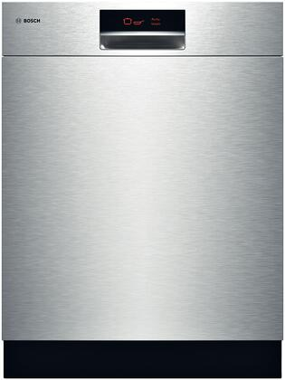 "Bosch SHE9ER55UC 24"" 800 Plus Series Built-In Semi-Integrated Dishwasher"