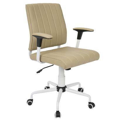 """LumiSource Cache OFC-CACH 34"""" - 37"""" Office Chair with PU Leather Upholstery, Adjustable Height and Casters in"""