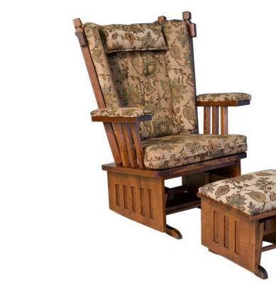 Chelsea Home Furniture 313003ESQUIRE  Glider Wood Frame Fabric Rocking Chair