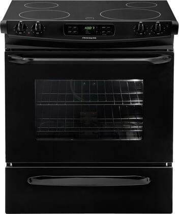 "Frigidaire FFES3025LB 30"" Slide-in Electric Range with Smoothtop Cooktop Storage 4.2 cu. ft. Primary Oven Capacity"