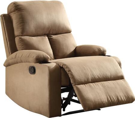 """Acme Furniture Rosia Collection 32"""" Recliner with External Latch Handle, Pillow Top Arms, Cup Holders, Pocket Coil Seating, Wood Frame and Microfiber Upholstery in"""