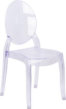 Flash Furniture WHF1075GG Armless Plastic Frame Accent Chair