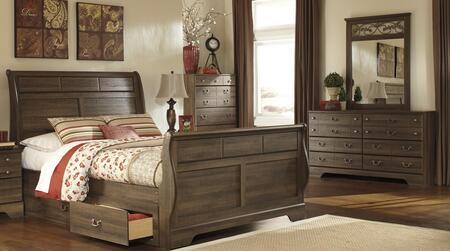 Milo Italia BR311QSLBDM Krueger Queen Bedroom Sets