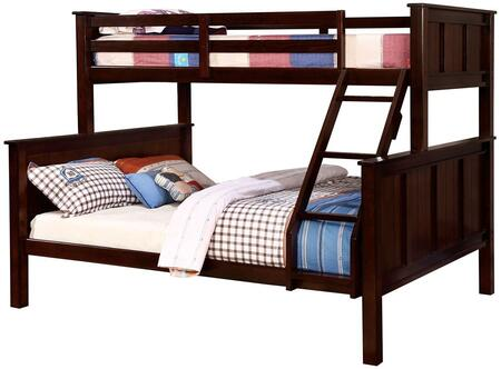 Furniture of America CMBK930TQBED Gracie Series  Twin over Queen Size Bunk Bed