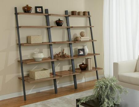 Unique Furniture 1C100013P Triple Leaning Ladder Bookcase