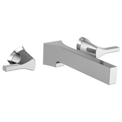 Zura T3574LF-WL Delta Zura: Two Handle Wall Mount Lavatory Faucet in Chrome