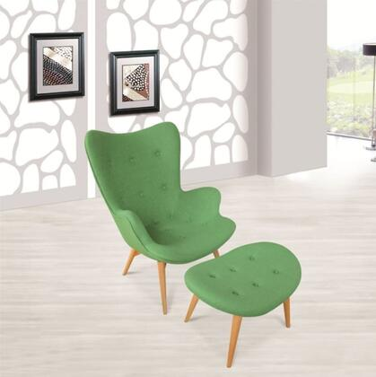 Fine Mod Imports FMI1005GREEN Contemporary Wool Chaise Lounge