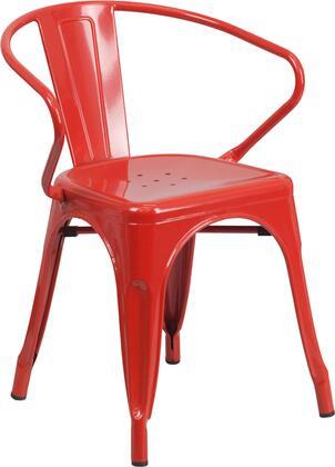 Flash Furniture CH31270REDGG  Metal Frame  Patio Arm Chair