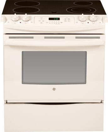 "GE JS630DF 30"" Slide-In Electric Range With Audible Preheat Signal, Control Lock Capability, Thermal Bake, Thermal Roast, Digital Temperature Display, 2 Oven Racks, 7 Rack Positions & In"