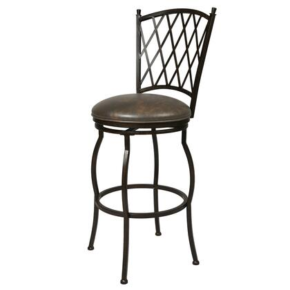 Pastel Furniture QLAT225 Atrium Bar Height Swivel Barstool in Dark Brown