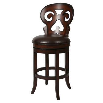 Pastel Furniture QLHR219 Hermosa Bar Height Swivel Barstool in Brown