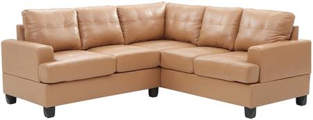 Glory Furniture G581BSC G580 Series Stationary Bycast Leather Sofa