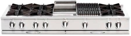 "Capital CGRT604BG2L 60"" Culinarian Series Gas Open Burner Style Cooktop, in Stainless Steel"