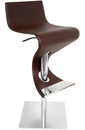 LumiSource BSVIVACOF Viva Series Residential Bycast Leather Upholstered Bar Stool
