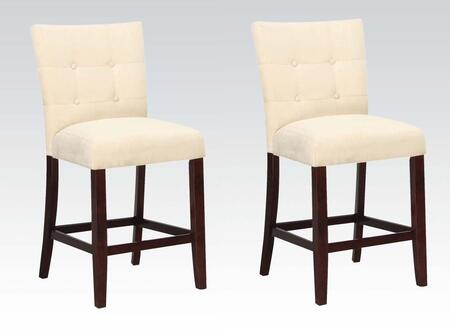 Acme Furniture 16832 Baldwin Series Contemporary Microfiber Wood Frame Dining Room Chair
