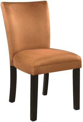 """Coaster Bloomfield 10149 23.5"""" Parson Side Chair with High Sleek Curved Back, Wooden Tapered Legs and Soft Velour Fabric Upholstery in"""