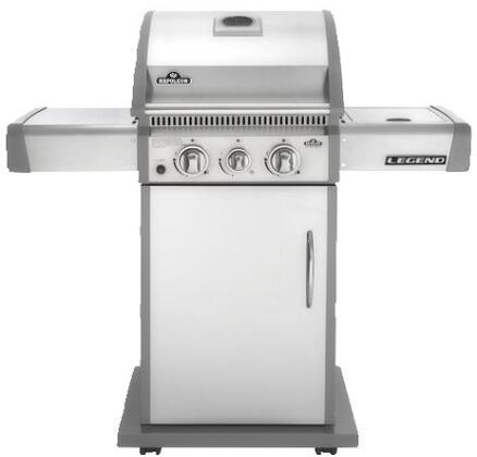 Napoleon LA Series LA200SBXSS XX Grill With Side Burner On Cart, 2 Burners, 35,000 BTUs Grilling Surface, Cast Iron Cooking Grid, 2 Side Shelves, 435 Sq. Inches Grilling Area, In Stainless Steel